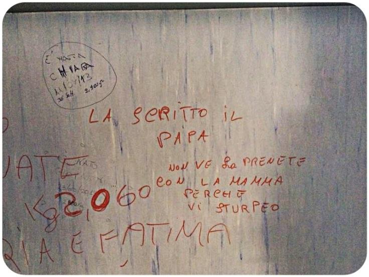 scritte sui muri ospedale