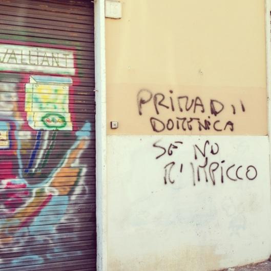 Scritte sui muri quartopianosenzascensore - Scritte sui muri di casa ...