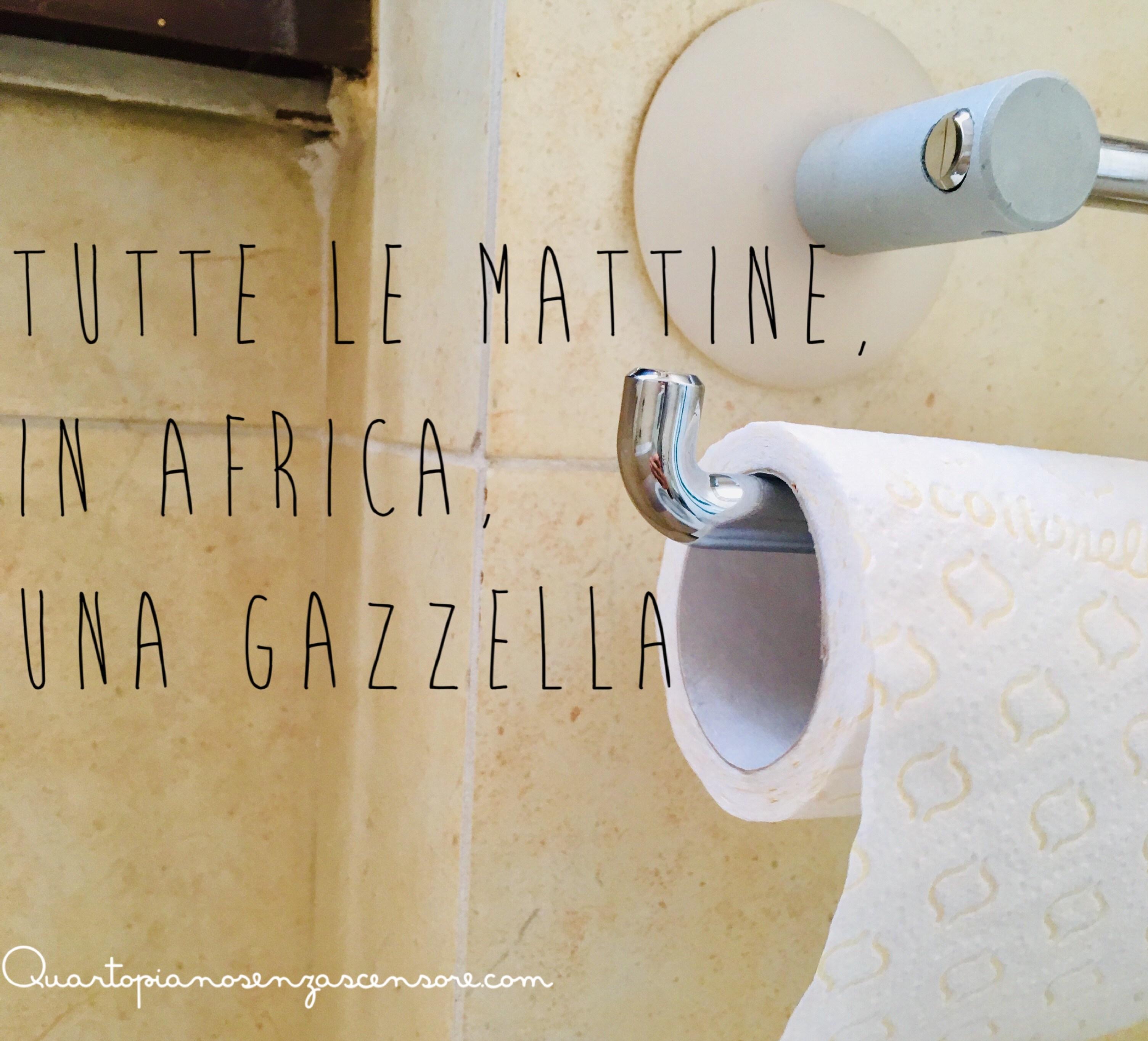 Verso Giusto Carta Igienica tutte le mattine, in africa, una gazzella